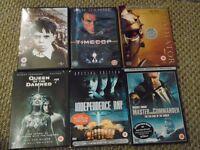 DVD and blurays