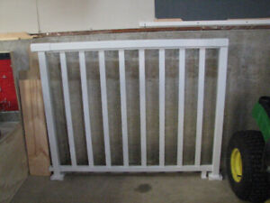 Brand New - 4 ft section White Aluminum Railing