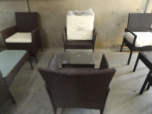 New Never Used 3 Piece Wicker Furniture Patio Set