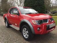 STUNNING MITSUBISHI L200 RAGING BULL AUTO IN AZTEC RED DOUBLE CAB PICKUP NO VAT