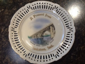 Antique decorative Saskatoon plate