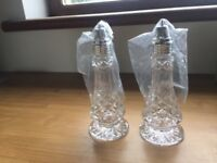Galway crystal salt and pepper shakers