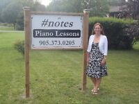 E's #notes piano lessons - just north of Cobourg