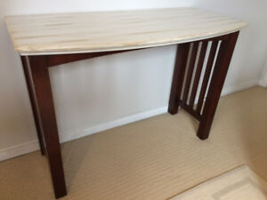 Solid Wood Console Table – Antique Finish - $95