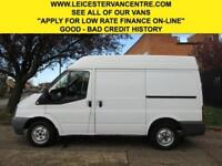 2010 60 FORD TRANSIT 2.2TDCI T260 SWB SEMI HIGH ROOF. ONLY 89,000 MILES. FSH DIE