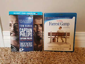 TOM HANKS FORREST GUMP AND CAPTAIN PHILLIPS BLU-RAY'S