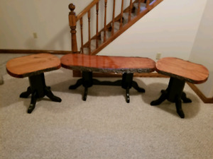 Canadian made cherry live edge wood furniture for sale