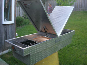 Full-Size Champion aluminum truck toolbox in great condition