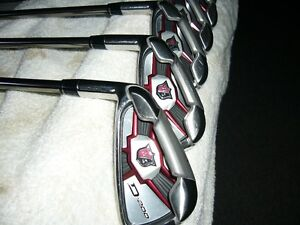 Set of left hand irons