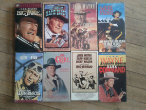 John Wayne VHS tapes