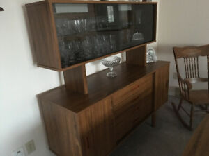 Dining room table with matching hutch