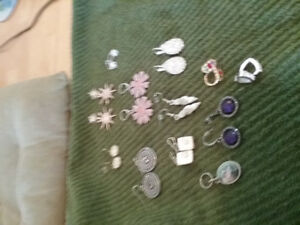 individual sets of earrings for $5 /pair or $30 for all pairs