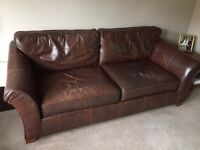 M&S Abbey Leather Sofa (large)