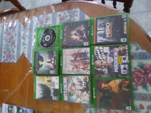 9 Xbox one Games 60$ or 10$ each