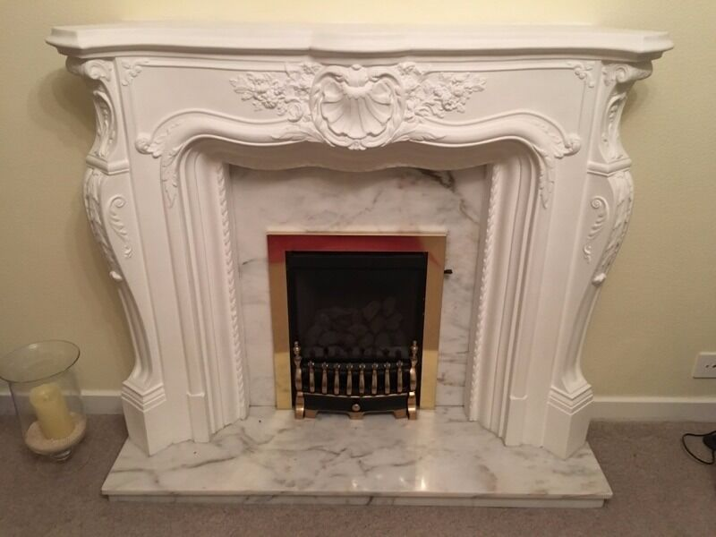 Louis Style Fire Surround Including Mable Back Amp Hearth