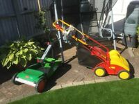 LAWN SCARIFIER & HAND PUSH CYLINDER LAWN MOVER - excellent condition!