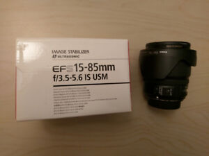 Canon EF S 15-85 IS USM lens