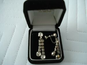 Vintage Rhinestone Earrings Kitchener / Waterloo Kitchener Area image 2