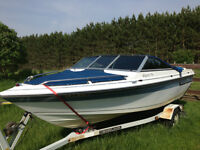 16 ft Cadorette Boat with 80 hp Mercury Motor with Trailer