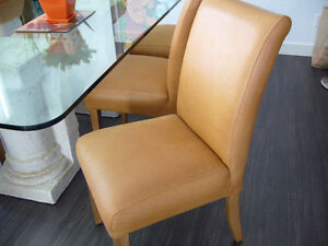 6  Genuine Leather Dining Chairs