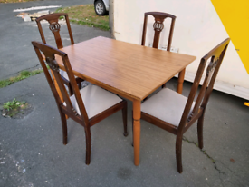 Dining Table and Chairs - Quality Dining Table and 4 Chairs. The Table