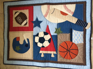Sports themed crib bedding Kingston Kingston Area image 1