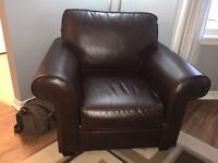 Bonded leather couch and chair