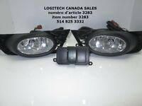 Civic 09-11 4 Door CLEAR Fog Driving Lights Kit+Switch LF-CV094O