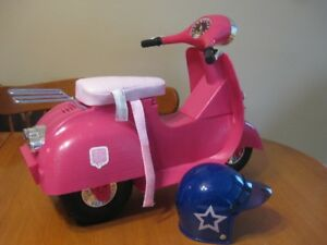 "18"" DOLL OUR GENERATION GIRL DOLL SCOOTER WITH HELMET"