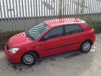 2002 TOYOTA COROLLA VVT-I 5 DOORS HATCH BACK AUTO PETROL RED