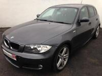 2008 58 BMW 1 SERIES 123d M SPORT - AUTO - LEATHER - PADDLE SHIFT - PX/FINANCE