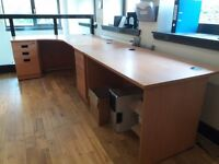Office Desks, Drawers, Cupboards, Bookshelves and Filing Cabinets - Beech Effect