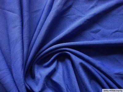 1  Lfm Jersey 3,55€/m²  Schlauchstoff Micromodal blau IE29