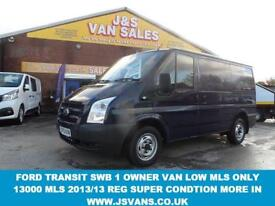 VAN SWB 2.2 TDCI 2013/13 REG BLUE 1 OWNER ONLY 13000 MLS