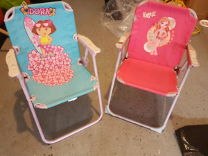 Kids' folding chairs for sale  $15 both