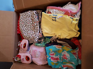 Box of summer clothes