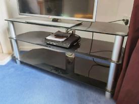 TV stand unit dark glass