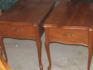matching end tables french provincial design