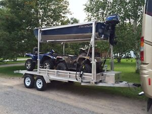Aluminum trailer for boat and quads