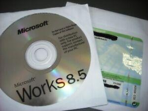 Microsoft works 8.5 with key