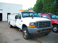 2001  FORD F550 7.3 turbo diesel with altec service body