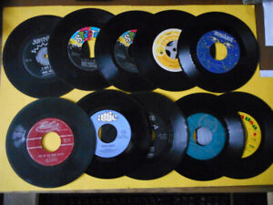 Disque 45 tours (10) chanteuses et chanteurs québécois