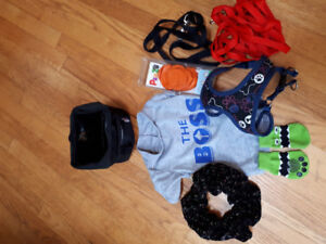 Lot of assoted dog items for a small dog - harness leash etc