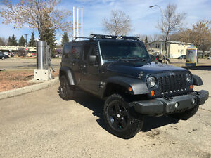 2007 unlimited jeep front bumper, rear bumper, hitch front grill