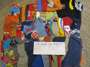 12 month baby boy summer clothing lot