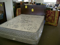 SALE complete NEW queen size bed with box and mattress. $599.