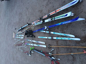 Older downhill/xcountry skis and poles