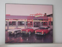POSTER ILLUMINE ANCIENNE VOITURE 1950's VINTAGE CARS