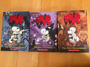 Bone Series by Jeff Smith - 3 in 1 Collection of Books 1-9