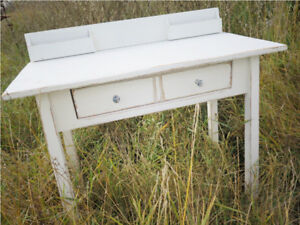Fabulous Shabby Chic Antique Desk / Console Table / Catchall